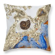 The Golden Flow Of Expansion Throw Pillow