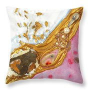 The Golden Flow Of Love And Determination Throw Pillow