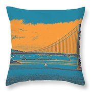 The Golden Gate Bridge In Sfo California Travel Poster Throw Pillow