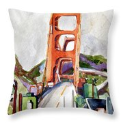 The Golden Gate Bridge San Francisco Throw Pillow