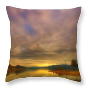 The Golden Glow Of Morning Throw Pillow