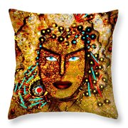 The Golden Goddess Throw Pillow