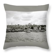 The Golden Horn Throw Pillow