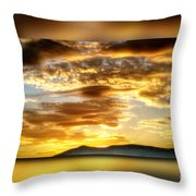 The Golden Hour Throw Pillow