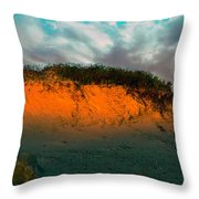 The Golden Hour Illuminating The Dunes Throw Pillow