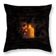 The Golden Idol Throw Pillow