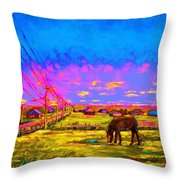 The Golden Meadow Throw Pillow