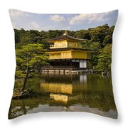 The Golden Pagoda In Kyoto Japan Throw Pillow