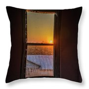 The Golden Sunset Throw Pillow