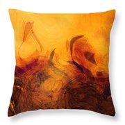 The Golden Tree  Throw Pillow