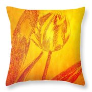 The Golden Tulip Throw Pillow