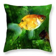 The Goldfish Throw Pillow