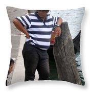 The Gondolier Throw Pillow