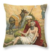 The Good Samaritan Throw Pillow