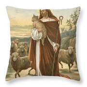 The Good Shepherd Throw Pillow by John Lawson
