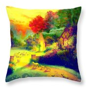 The Good Shepherd Painting In Hotty Totty  Throw Pillow
