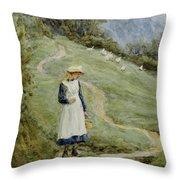 The Goose-girl  Throw Pillow