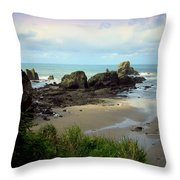The Gorgeous Northwest Pacific Coastline Throw Pillow