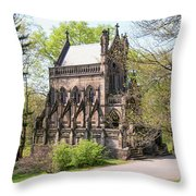 The Gothic Temple In Spring Grove Cemetery Throw Pillow