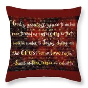 The Grace Of Suffering Throw Pillow