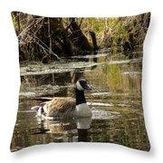 The Graceful Goose Throw Pillow