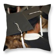 The Graduates Throw Pillow