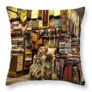 The Grand Bazaar In Istanbul Turkey Throw Pillow