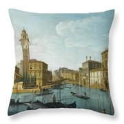 The Grand Canal At The Entrance Throw Pillow