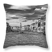 The Grand Canal Bw Throw Pillow