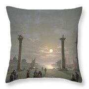 The Grand Canal From Piazza San Marco Throw Pillow