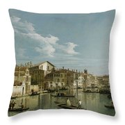 The Grand Canal In Venice From Palazzo Flangini To Campo San Marcuola Throw Pillow