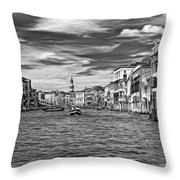 The Grand Canal - Paint Bw Throw Pillow
