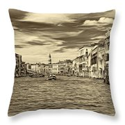 The Grand Canal - Paint Sepia Throw Pillow