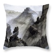 The Grand Canyon Drawing            Throw Pillow