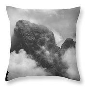 The Grand From Paintbrush Divide Throw Pillow