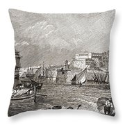 The Grand Harbour, Valetta, Malta After Throw Pillow