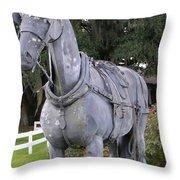 Horse At The Grand Oaks Resort Throw Pillow