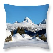 The  Grand Tetons From Alta Wyoming Throw Pillow