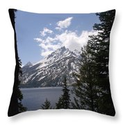 The Grand Tetons Lake Throw Pillow