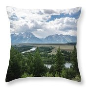The Grand Tetons Throw Pillow by Margaret Pitcher