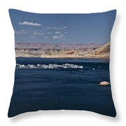 The Grand View Of Wahweap Bay Throw Pillow