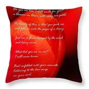 The Gratitude Of A Broken Flower  Throw Pillow