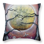 The Graveyard Throw Pillow