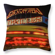 The Gravitron Throw Pillow