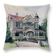 The Gray Lady Throw Pillow