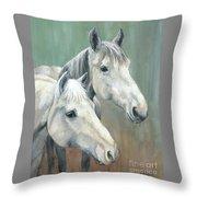 The Grays - Horses Throw Pillow