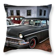 The Greaser's Ghost Throw Pillow by John De Bord