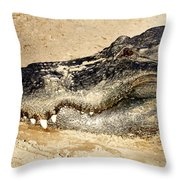 The Great Alligator Throw Pillow