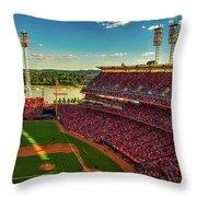 The Great American Ball Park - Cincinnati Throw Pillow