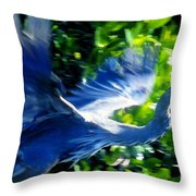 The Great Blue Throw Pillow